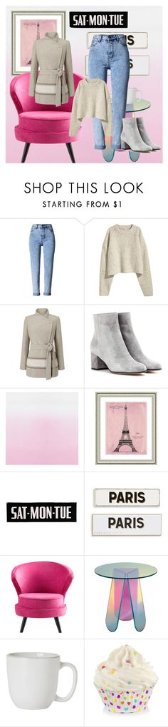 """Bez naslova #101"" by selmamehinovic112 ❤ liked on Polyvore featuring WithChic, Jacques Vert, Gianvito Rossi, Vintage Print Gallery, Rosanna, Cyan Design and Juliska"