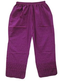 Blue-Violet-Cotton-Embroidered-Palazzo-Pants  $24.00 Yoga Pants, Harem Pants, Pajama Pants, Hippie Gypsy, Hippy, Gypsy Skirt, Cotton Pants, Palazzo Pants, Purple