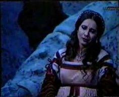 1996 Paris Stage version of Verdi's Rigoletto (1851), Andrea Rost as Gilda (aria: Qualtier Malde ... Caro nome che il mio cor)