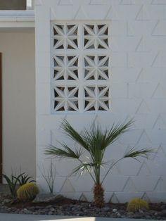 Star effect Breeze Block...Palm Springs...