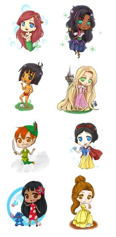 Disney Chibis by chinese-rocks94.deviantart.com on @deviantART
