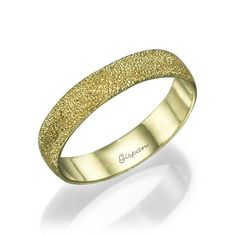 Unique Wedding Ring, 14k yellow Gold, Glitter Ring, Wedding Band, Texture Ring, Yellow Gold Wedding Ring, Woman Wedding Ring
