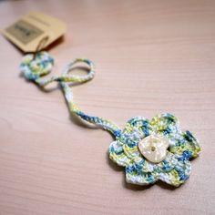 Flower Crochet Bookmark.