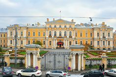 Saint Petersburg - palace of Chancellor Vorontsov on Sadovaya Ulitsa in St Petersburg Peter The Great, Catherine The Great, Saint Jean Baptiste, Facade House, House Facades, Dream Mansion, St Petersburg Russia, Castle House, Belle Villa