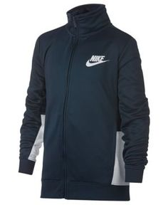 Nike Colorblocked Sportswear Track Jacket, Big Boys (8-20) - Black XL