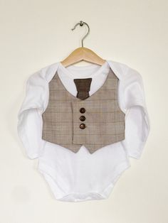 Baby boy clothes, 9-12 mths, vest and tie, baby bodysuit, baby waistcoat, baby formal, baby boy present, baby vest, Etsy UK