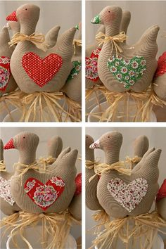 Všem moc děkuji za přízeň a strašně milé kometáře, moc si j Christmas Teddy Bear, Felt Christmas, Farm Crafts, Easter Crafts, Handmade Crafts, Diy And Crafts, Christmas Flower Decorations, Mothers Day Crafts, Stuffed Animal Patterns