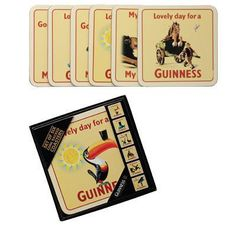 Mully's Touch of Ireland - Guinness Toucan Coasters 6pk, $19.95 (http://www.mullystouchofireland.com/guinness-toucan-coasters-6pk/)
