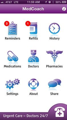 """The HWC binder mentions the Med Coach App as an app that can """"help you follow your vitamin and medication reminder with helpful reminders."""""""