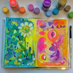 My art journal doodling with Pam Garrison w/ Creativebug.