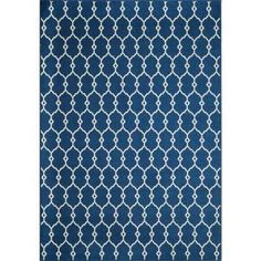 Momeni Baja Navy 5 ft. 3 in. x 7 ft. 6 in. Indoor/Outdoor Area Rug-23825 at The Home Depot
