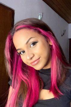 @classichairbychloe in Virgin Pink #AFvirginpink Hair Color Pink, Hair Dye Colors, Pink Hair, Pink Peekaboo Hair, Semi Permanent Hair Dye, Arctic Fox Hair Color, How To Lighten Hair, Bright Hair, Light Brown Hair