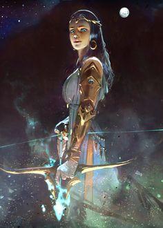 Ideas for fantasy art archer illustrations Stil Inspiration, Fantasy Inspiration, Character Inspiration, Fantasy Women, Fantasy Girl, Fantasy Team, Female Character Design, Character Art, Fantasy Characters
