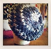 Lacy Knit Beret: Chunky Edition