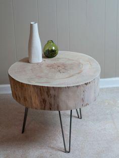 Tisch Coole Deko Baumstamm Massivholz