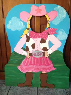 Yee-Haw Cowgirl - Cowboy Western Roundup - Photo Prop and Event Decoration