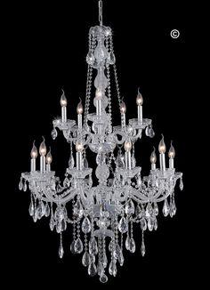 Bohemian Elegance 15 Light Crystal Chandelier- CHROME – Designer Chandelier Australia