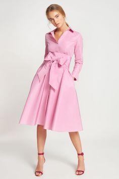 a8f9c306f020e4 Vestido camisero de tafeta ROSA - Vestidos de Colección | Vestidos de  Colección de CH Carolina