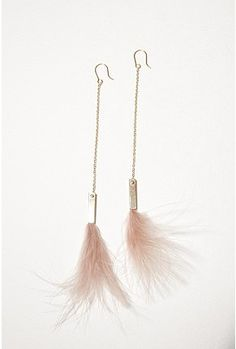 Sabrina Dehoff Long Feather Earrings.