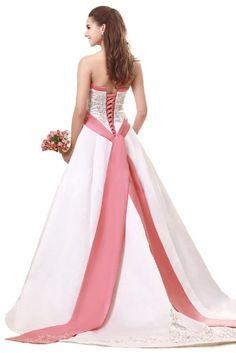 FairOnly Strapless Wedding Dress Satin Bridal Gown Custom Size 6 8 10 12 14 16+