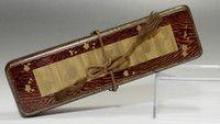 venta: 1900-1940 japonés antiguo del oro lacado de madera Fubako buzones Showa