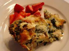 Favorite Spinach & Cheese Strata