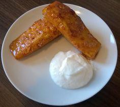 Een heerlijk nagerecht: gebakken Ananas met Honing en Kaneel - http://www.airfryerweb.nl/recepten/gebakken-ananas-met-honing-en-kaneel/