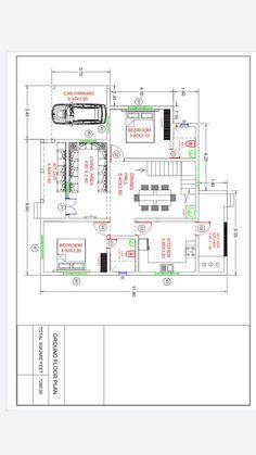 20x30 House Plans, Free House Plans, Duplex House Plans, Best House Plans, Modern House Plans, Modern House Design, House Floor Plans, Civil Engineering Design, 2 Storey House