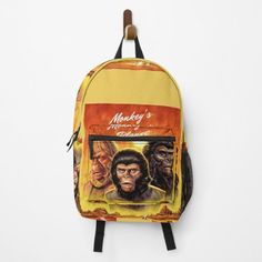 Clecio, MONKEY Backpacks   Redbubble Unique Bags, Racerback Tank Top, Monkey, Backpacks, Women, Jumpsuit, Monkeys, Backpack, Backpacker