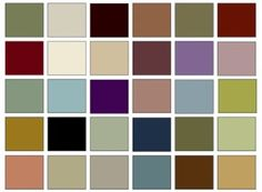 the picture above shows a basic victorian color palette however since computer monitors do not accurately and consistently depict color the photo should - Home Decor Color Palettes