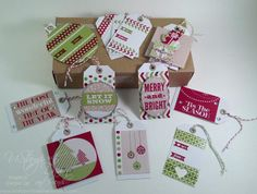 Tag, You're DONE!  Twelve Tags and Pop-Out Box Card - USWDAF