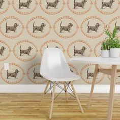 Basset-chocolate orange - Spoonflower