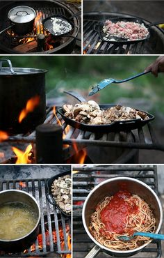 Camping dinner ideas. For more information on camping fun for the whole family visit hartranchresort.com. #camping #RV #BlackHills