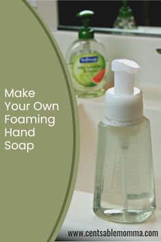 Learn how to make your own DIY Foaming Hand Soap from liquid hand soap for pennies on the dollar! #diyfoaminghandsoap Make Your Own, Make It Yourself, How To Make, Liquid Hand Soap, Pennies, Spring Cleaning, Bath And Body Works, Hands, Bottle
