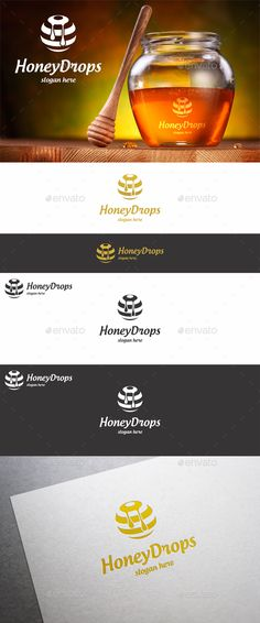 Honey Drops  — EPS Template #drops #logo • Download ➝ https://graphicriver.net/item/honey-drops/18399177?ref=pxcr