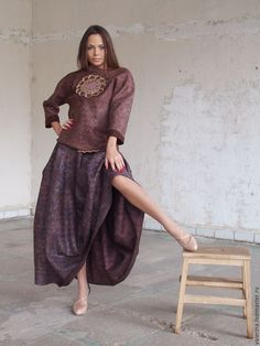 """Купить Юбка валяная """"ПРИНЦЕССА СПЕЦИЙ"""" - комбинированный, абстрактный, юбка длинная, валяная юбка"""
