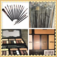 Kat Von D eyeshadow and 15 makeup brushes Kat Von D eyeshadow and 15 makeup brushes. I have sold 100 3 people told me they don't think they are real. My supplier still says they are. I will not lie and say they are authentic for that reason. Beautiful palette authentic or not. Kat von d Makeup Eyeshadow