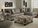 The ultra comfortable Athos 2-piece suede sectional sofa features a soft padded suede upholstery. Perfect for any living room or den, this sectional is a great value.