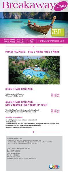 Zest! Breakaway Deals - Krabi Package #BCard #BCardRewards #Travel