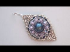 How to make a point on the Wheel Earring with seed beads (Peyote Stitch)