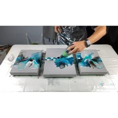 Canvas Art Projects, Diy Canvas Art, Acrylic Pouring Art, Acrylic Art, Flow Painting, Diy Painting, Graffiti Wall Art, Ideias Diy, Acrylic Painting Techniques