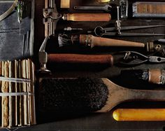 Collection of Bookbinding Tools