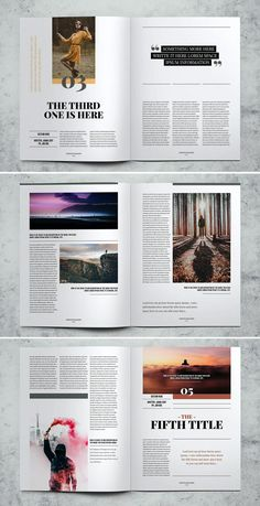 Fashion Lifestyle Magazine Template InDesign INDD - 32 Pages Magazine Page Design, Magazine Page Layouts, Mise En Page Magazine, Editorial Design Magazine, Magazine Design Inspiration, Editorial Layout, Page Layout Design, Graphic Design Layouts, Graphic Design Posters