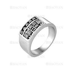 anillo de abaco especial en acero plata inoxidable para hombre -SSRGG271899
