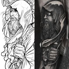 Druid by Robert Borbas (@ grindesign) done at @ rookletink #kwadron #tattoome #h2oceanproteam