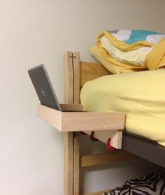 4 ways to make the most of the top bunk in a college dorm plus rh pinterest com loft bed storage loft bed storage steps