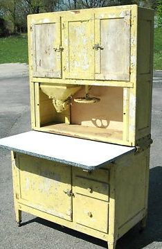 The Country Farm Home: I'll Take a Hoosier Cabinet, Please We had a Hoosier Cabinet a lot like this,