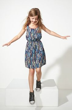 adorable with the sneakers - Soprano Woven Sleeveless Dress (Big Girls) available at #Nordstrom