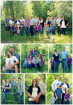 family session / family poses like the color without the matching.