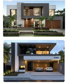 Cozy Look Modern Architecture House Exterior Design Modern Exterior House Designs, Modern Villa Design, Modern House Facades, Dream House Exterior, Modern Architecture House, Exterior Design, Amazing Architecture, Bungalow House Design, House Front Design